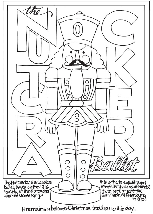 Freebie: Nutcracker Coloring Page – Stamping