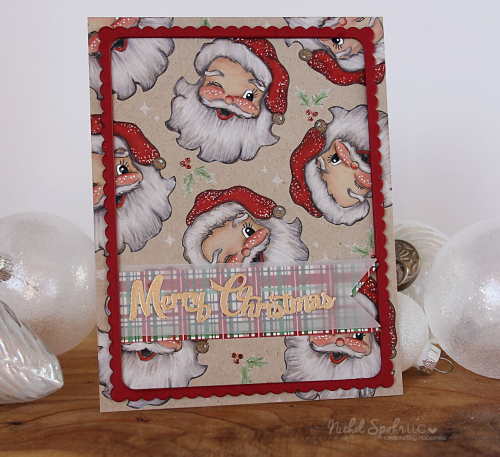 Project: Vintage Santa Faces Card