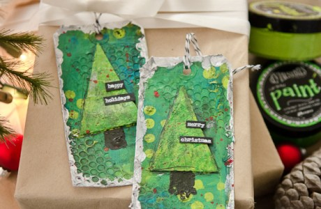 Project: Mixed Media Christmas Tags