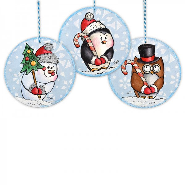Project: Stamped Christmas Ornaments