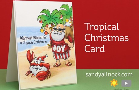 Project: Tropical Santa Card