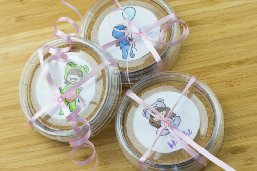 Project: Stamped Kawaii Girl Coasters