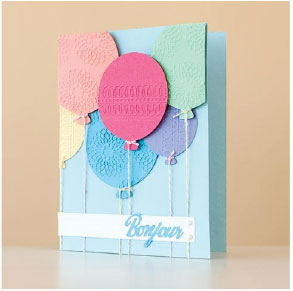 Project Die Cut and Embossed Balloon Card