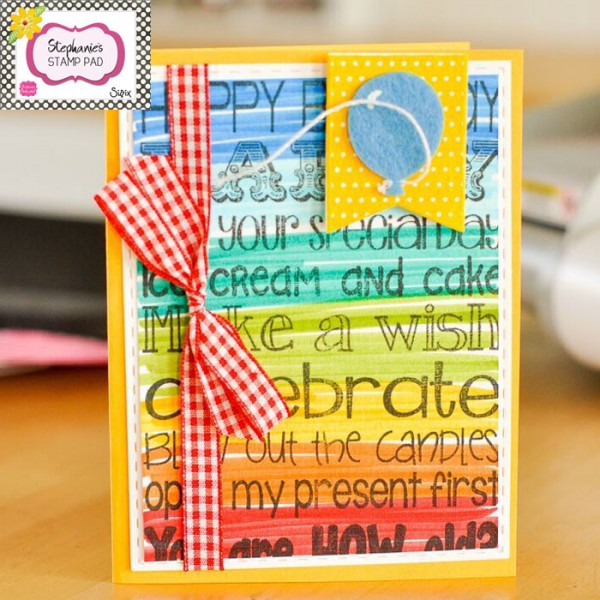 Project Rainbow Words Birthday Card