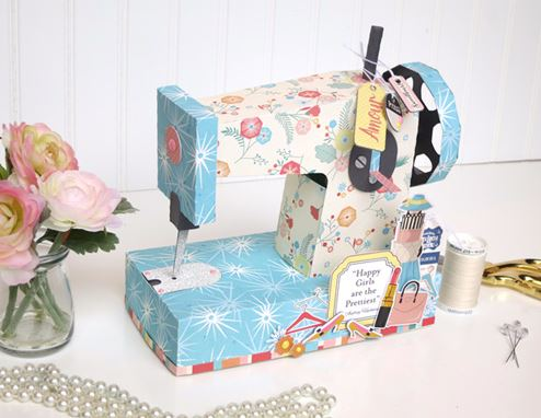 Inspiration: Paper Sewing Machine Box