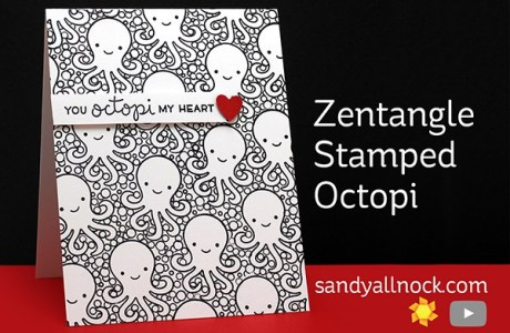 Technique: Stamped Card with a Zetangle Look