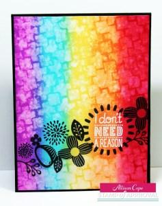 Technique: Rainbow Card Background