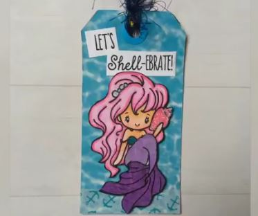 Project: Stamped Mermaid Bookmark