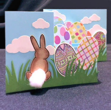 Project Z Fold Pop Up Easter Card Stamping