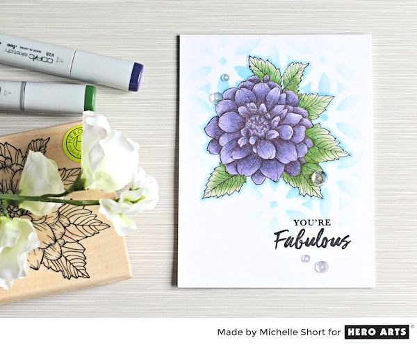 Tip: Floral Card Combining Stamps and Stencils