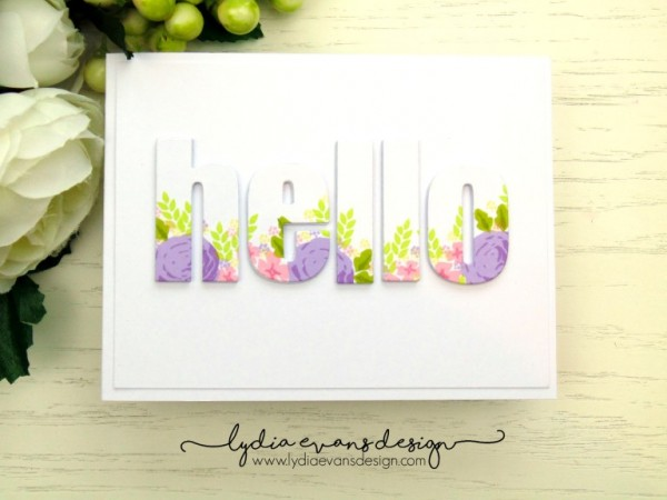 Project: Card with Floral Stamped Die Cut Letters