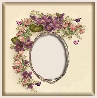 Download: Vintage Violet Frame Image