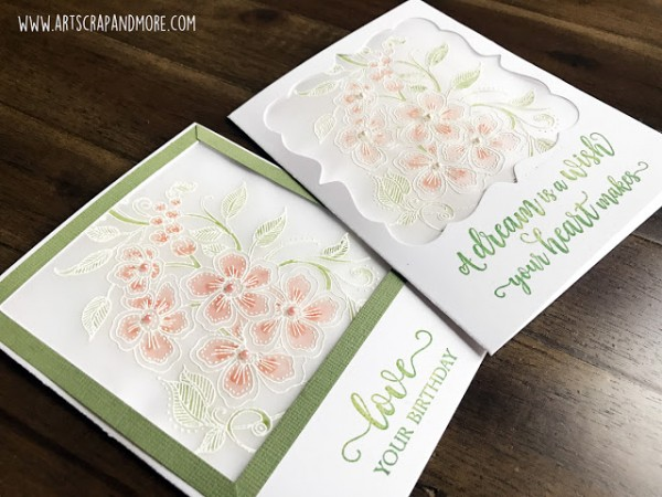 Tip: White Embossing on Vellum