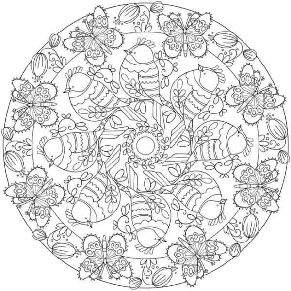 Download: Spring Mandala Coloring Page