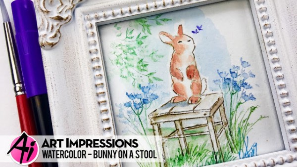 Project: Bunny on a Stool Water Color