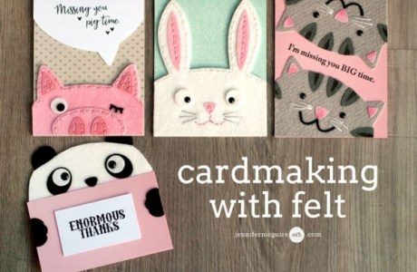 Tips and Tutorials: Die Cut Felt Animal Cards