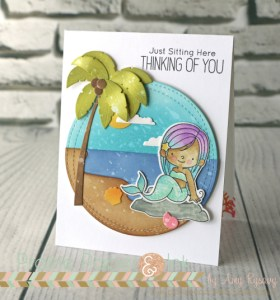Project: Mermaid Card with Distress Oxide Inks