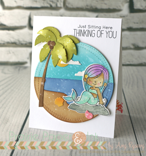 Project Mermaid Card With Distress Oxide Inks Stamping