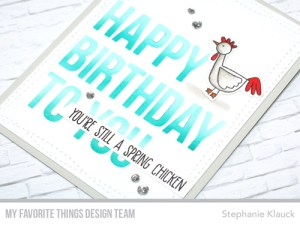 Project: Funny Spring Chicken Birthday Card