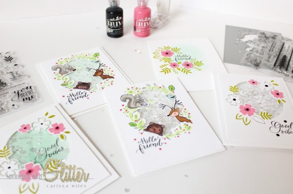 Project Coordinating Stamps and Dies Shaker Card