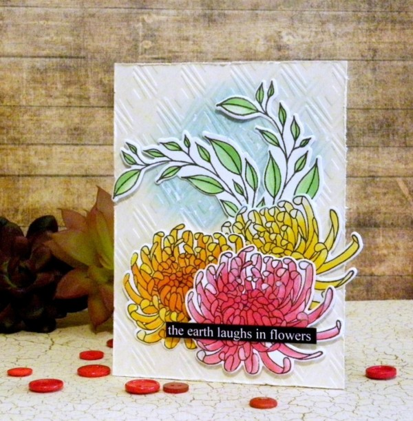 Project: Chrysanthemum Floral Card