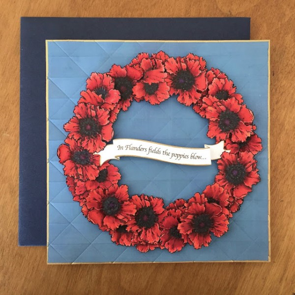 Project: Detailed Poppy Wreath Card