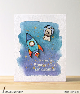 Project Space Dog Belated Birthday Card