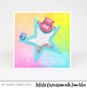 Tip: Hippo Card with Altered Stamp Image