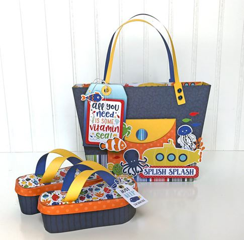 Projects: Beach Tote Gift Bag and Flip Flop Boxes