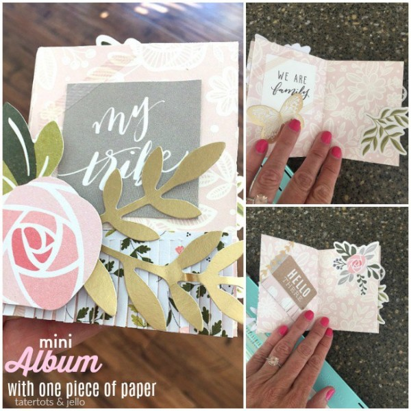 Project: One Sheet Mini Scrapbook Album