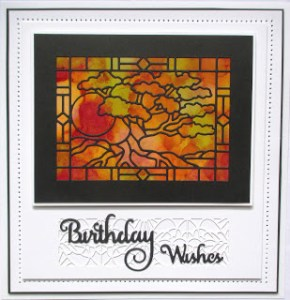 Technique: Stained Glass Window Card