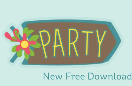 Download: Tiki Party Sign Die Cut