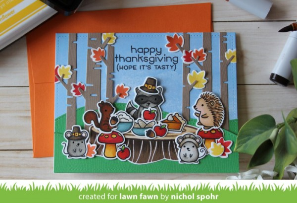 Project: Forest Animals Thanksgiving Feast Card