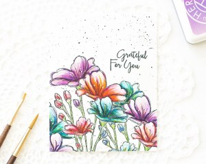 Tips: Water Coloring Flower Stamps
