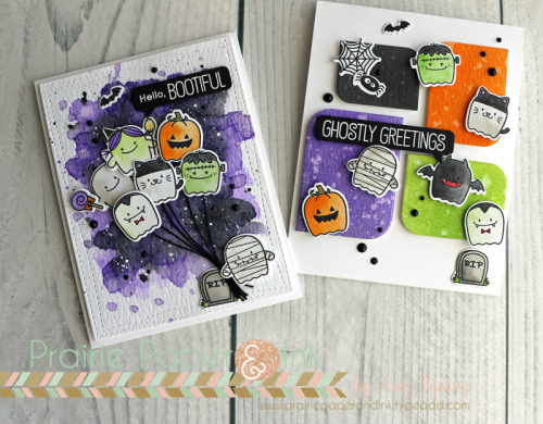 Project: Halloween Card with Distress Ink Coloring and Backgrounds