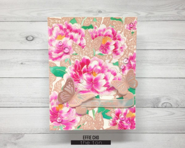 Project: Embossed Peony Card