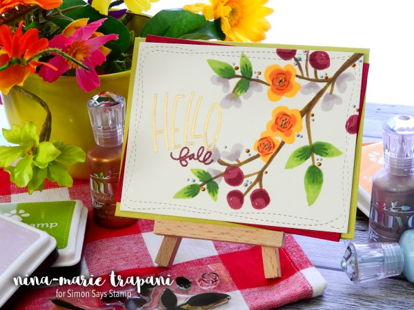 Tip: Using Spring Stamps for Fall