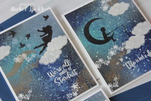 Technique: Starry Sky Silhouette Cards