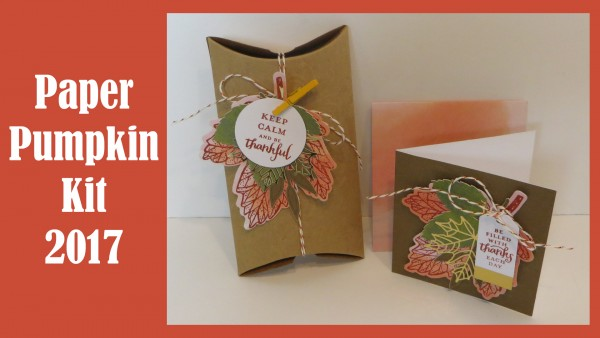 Giveaway and Review: Paper Pumpkin Kit for Sept 2017