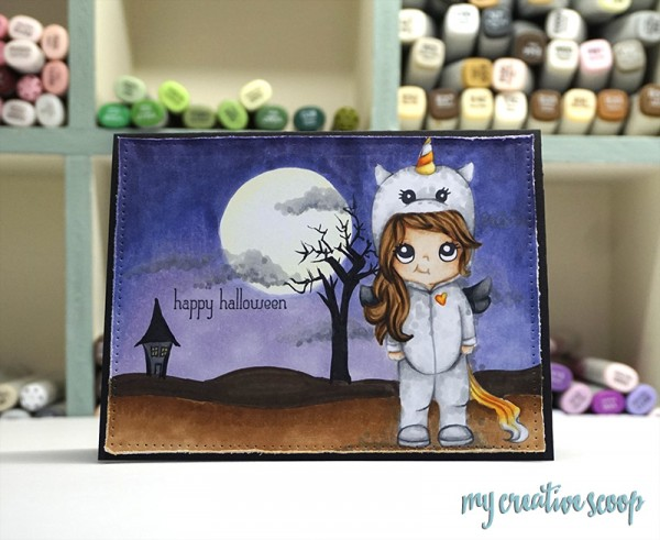 Tutorial: How to Make  Halloween Card Background with Copics