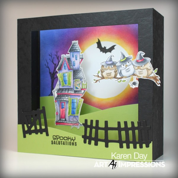 Project: Halloween Shadow Box Card