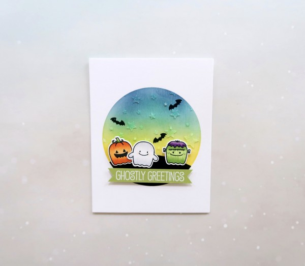 Project: Cute Halloween Card with Background Technique