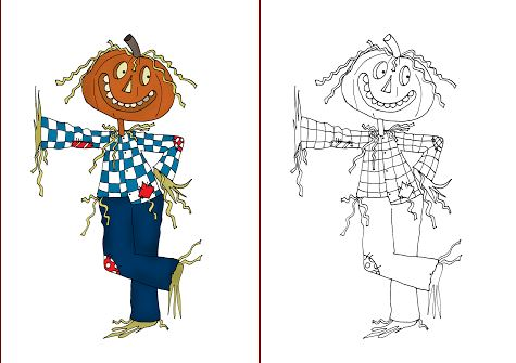 Download: Scarecrow Digital Stamp