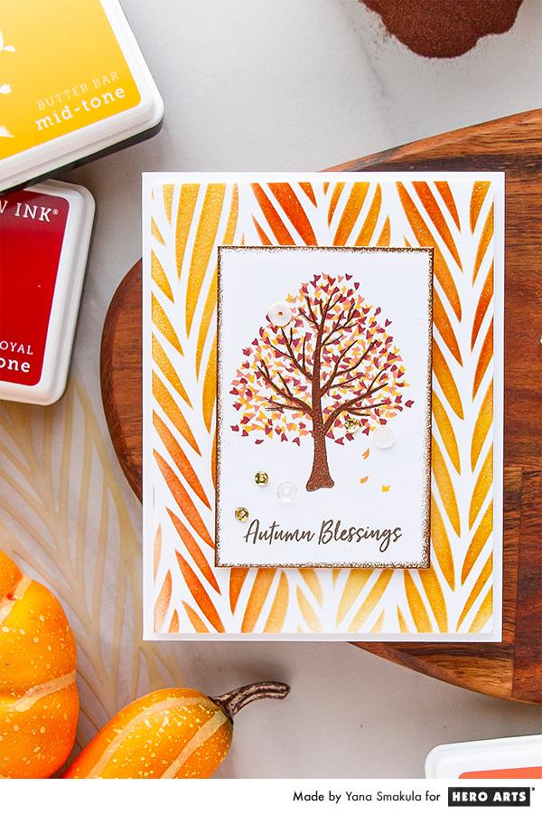 Project: Autumn Tree Card with Layered Stamping and Heat Embossing