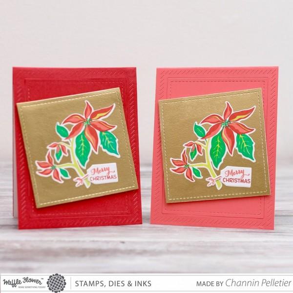 Technique: Poinsettia Holiday Card w/ Contact Paper Technique