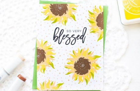 Project: Sunflower Card with Layered Stamping
