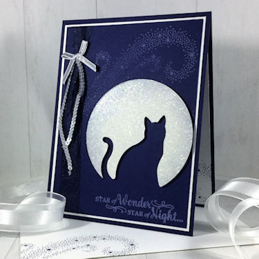 Project: Moonlight Cat Halloween Card