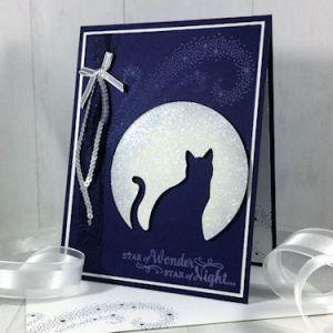 Project: Moonlight Cat Halloween Card
