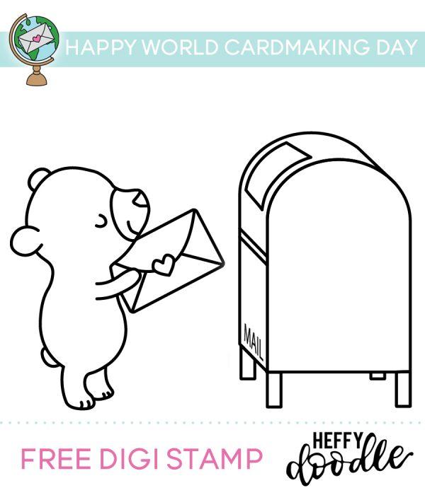 Download: Postage Bear Digital Stamp
