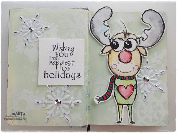 Download and Project: Journal Page with Reindeer Digi Stamp